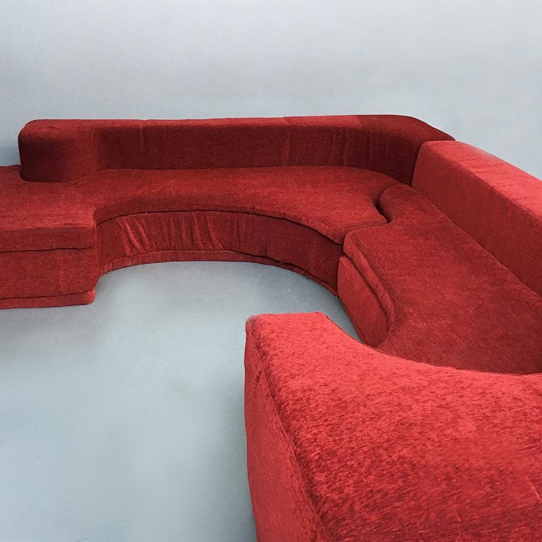 Italian Lara Modular Sofa by Pamio, Massari and Toso for Stilwood, 1968 For Sale 3