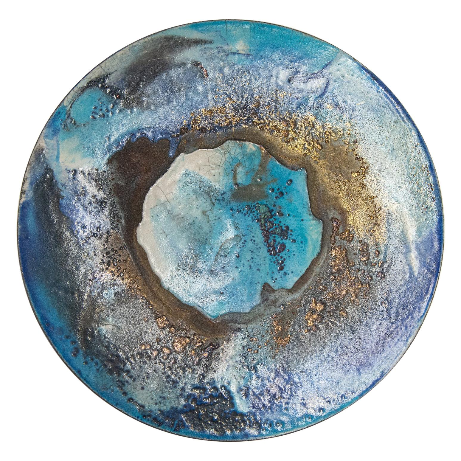 Modern Art Italian Large Ceramic Plate for Wall or Table