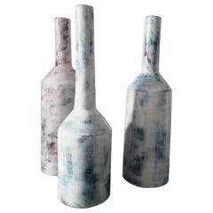 Italian Large Contemporary Handmade Glazed Ceramic Vases, Italy, 21st Century