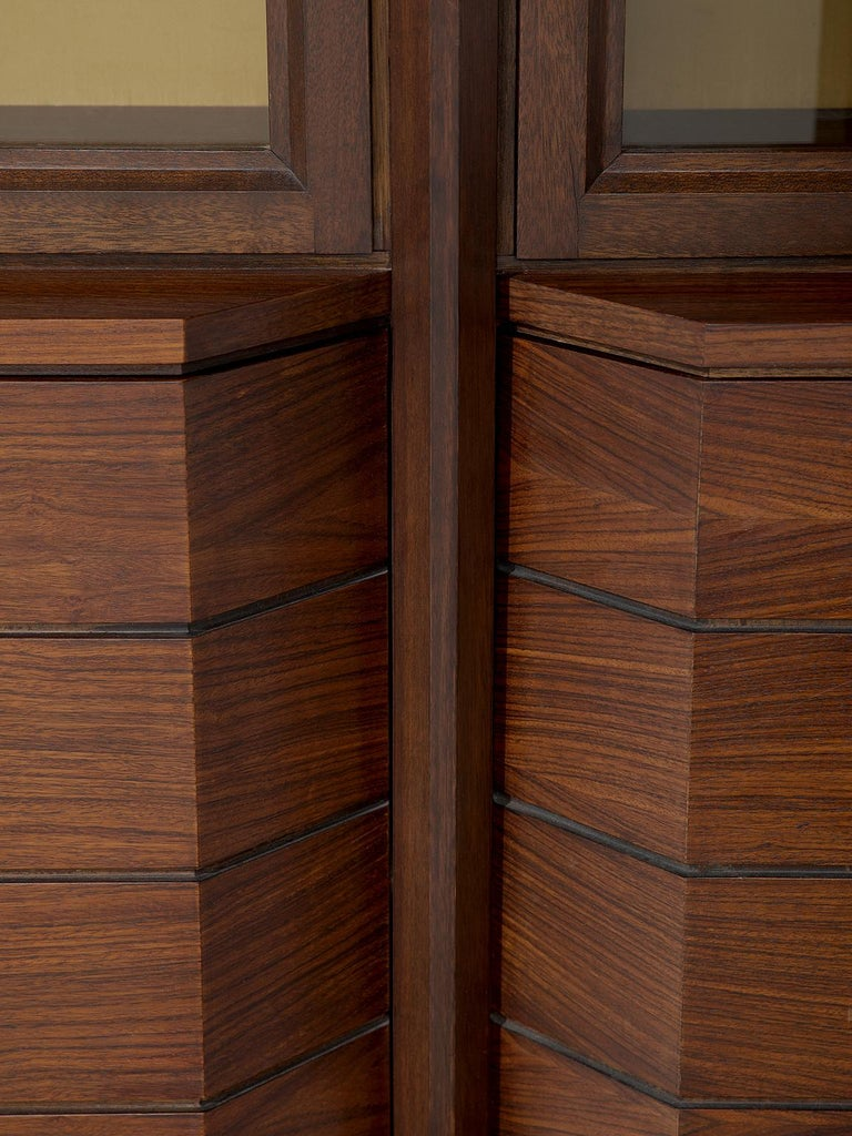 Italian Large Five Sectioned Cabinet in Rosewood, 1960s For Sale 1