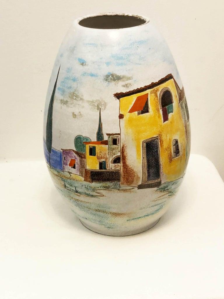 Mid-Century Modern Italian Large Floor Vase For Sale