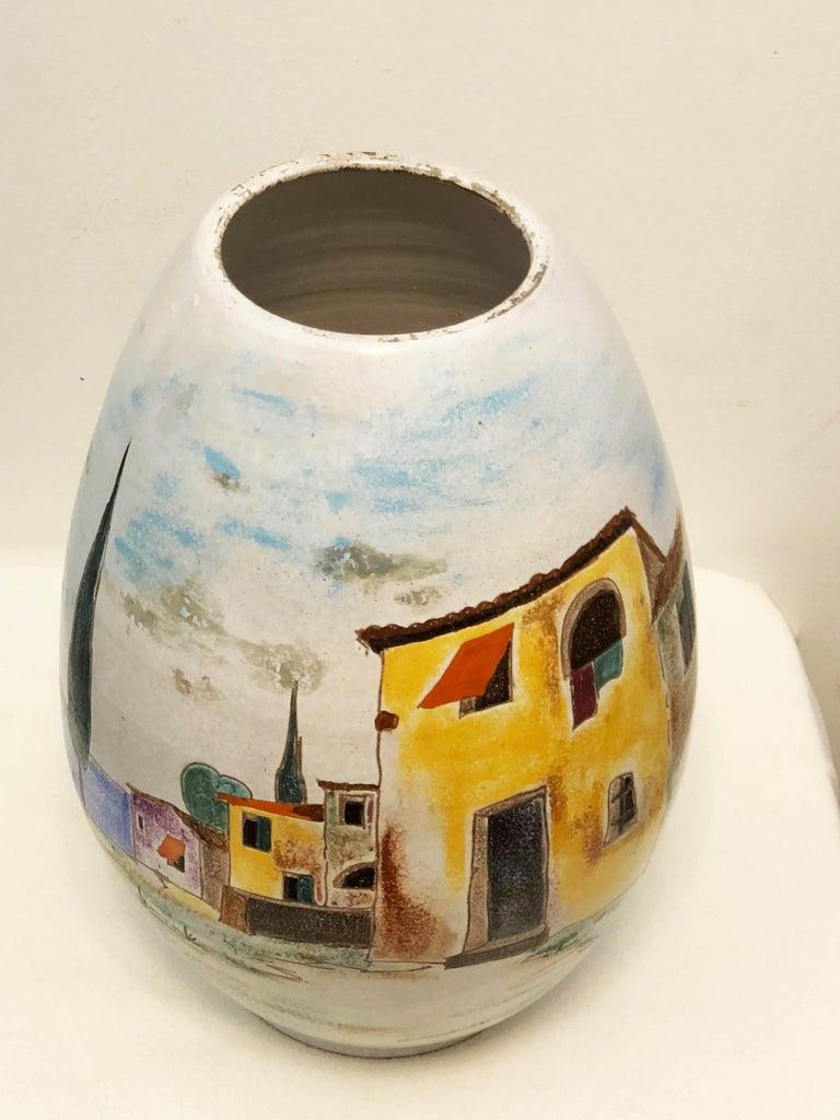 German Italian Large Floor Vase For Sale