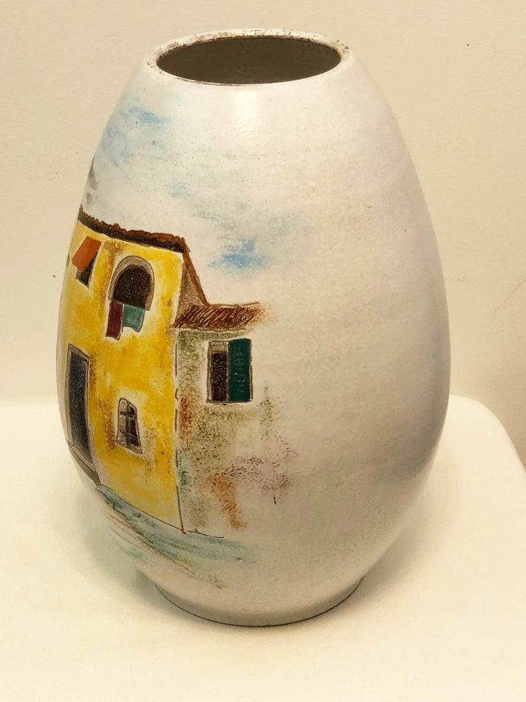 Mid-20th Century Italian Large Floor Vase For Sale