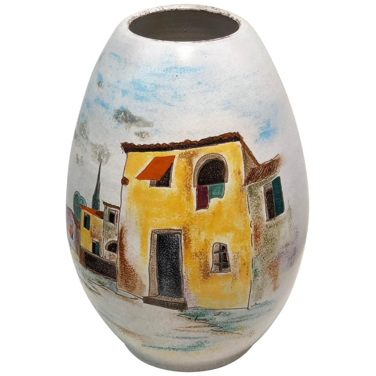 Italian Large Floor Vase For Sale