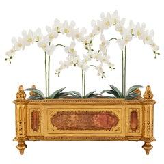 Italian Late 18th Century Louis XVI Period Giltwood and Alabaster Planter