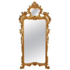 Italian Late 18th Century Neapolitan Giltwood Mirror