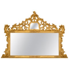 Italian Late 19th Century Baroque St. Giltwood Mirror