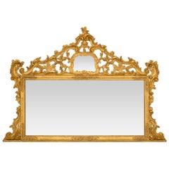 Italian Late 19th Century Baroque Style Giltwood Mirror