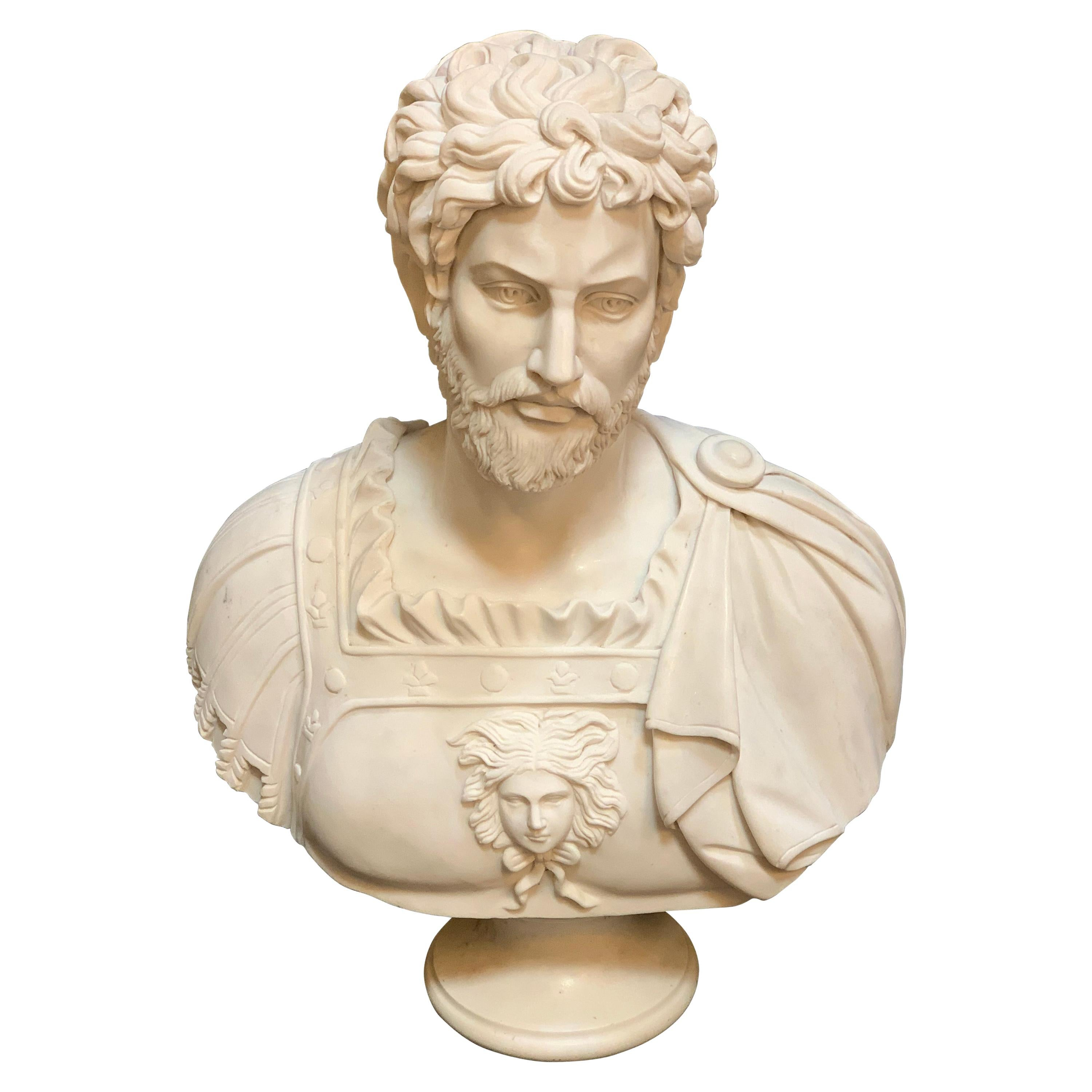 Italian Late 19th Century Bust of Emperor