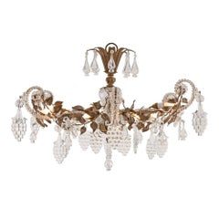 Italian Late 19th Century Louis XV St. Glass and Tole Chandelier