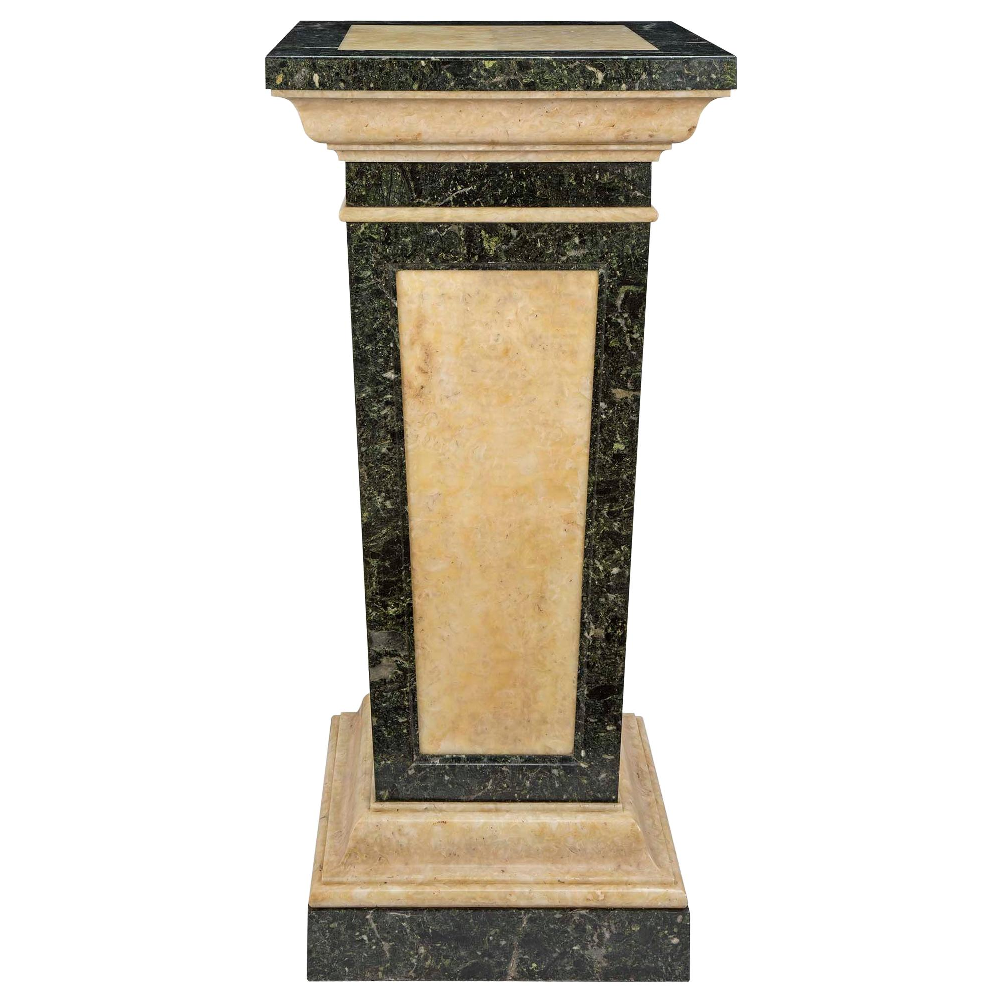 Italian Late 19th Century Neoclassical Style Alabaster and Marble Pedestal