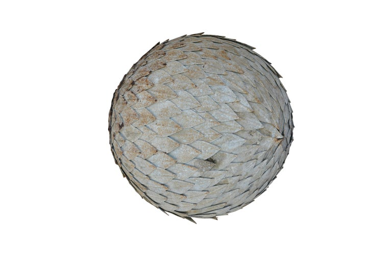 Italian Laurel Zinc Ball, circa 1940 In Good Condition For Sale In Sint-Kruis, BE