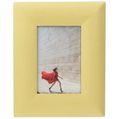 Italian Leather and Suede Picture Frame