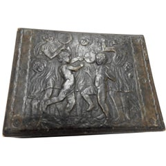 Italian Leather Box with Celebration Art Deco