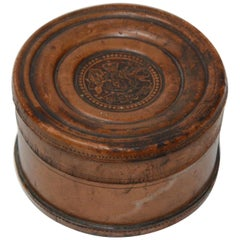 Italian Leather Box with Crest