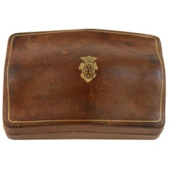 Italian Leather Box with Gold Embossing