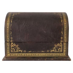 Italian Leather Letter Holder Box