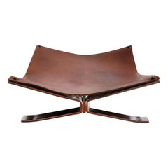 Italian Leather Log Holder or Magazine Rack by Alessandro Albrizzi, 1960s