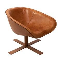 Italian Leather Max Alto Designed Antonio Citterio Armchair
