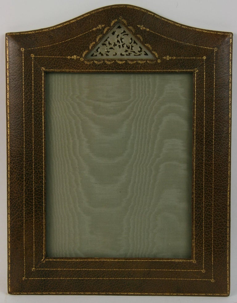 Mid-20th Century Italian Leather Picture Frame For Sale