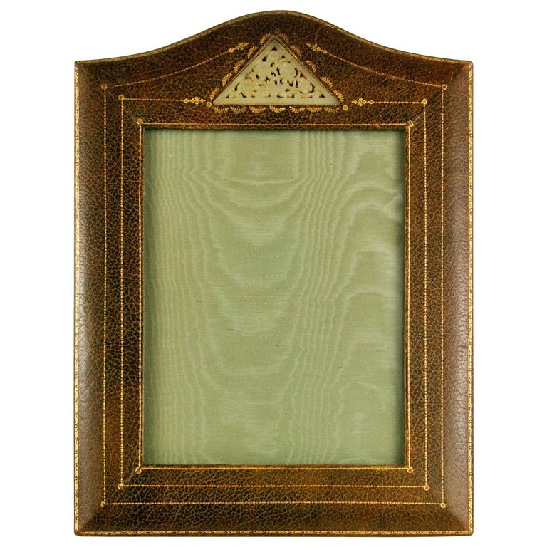 Italian Leather Picture Frame For Sale