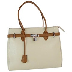 Italian Leather Shoulder Handbag by Diane B., Milano-Hermes style