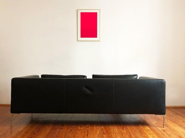 Modern Italian Leather Sofa Model Charles by Antonio Citterio for B&B Italia For Sale