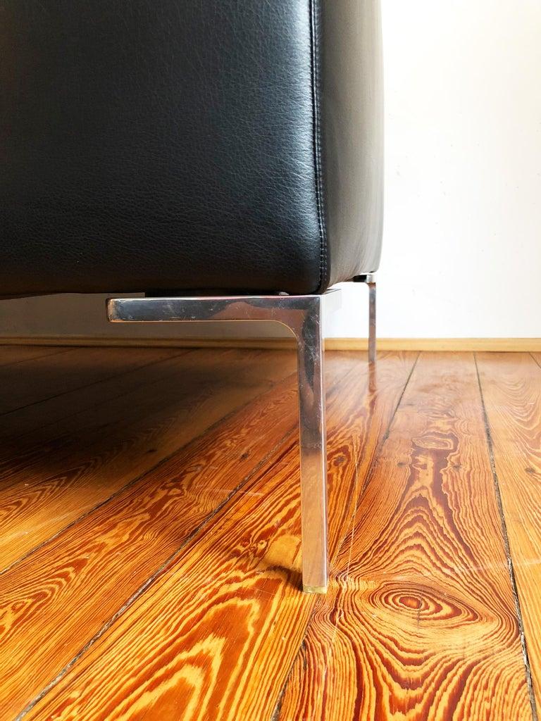 Late 20th Century Italian Leather Sofa Model Charles by Antonio Citterio for B&B Italia For Sale