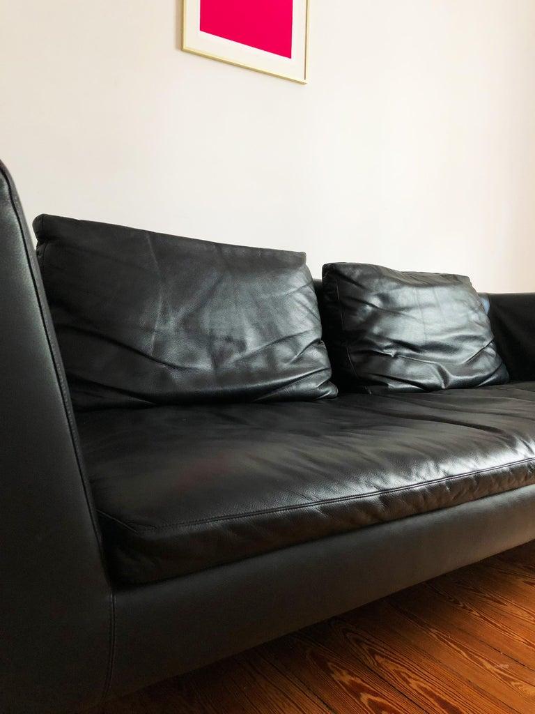 Aluminum Italian Leather Sofa Model Charles by Antonio Citterio for B&B Italia For Sale