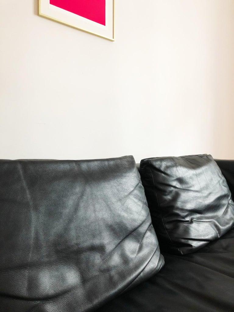 Italian Leather Sofa Model Charles by Antonio Citterio for B&B Italia For Sale 1