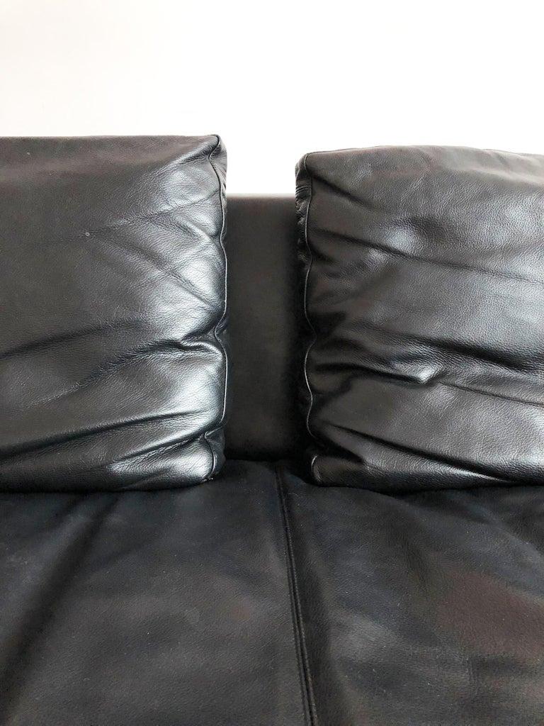 Italian Leather Sofa Model Charles by Antonio Citterio for B&B Italia For Sale 2