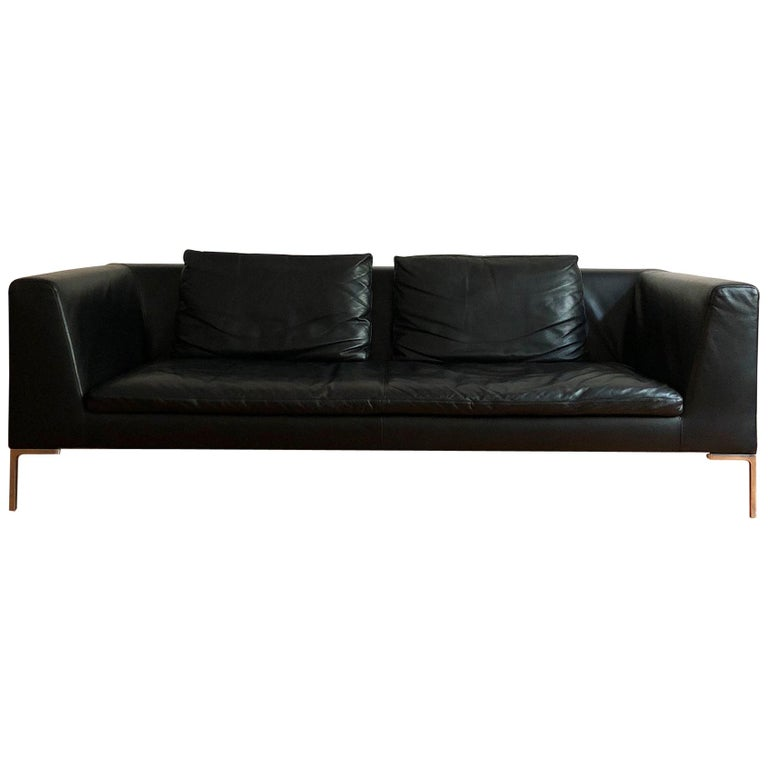 Italian Leather Sofa Model Charles by Antonio Citterio for B&B Italia