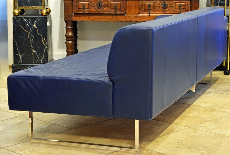 Italian Leather Sofa or Chaise by Studio Cerri and Associati for ...