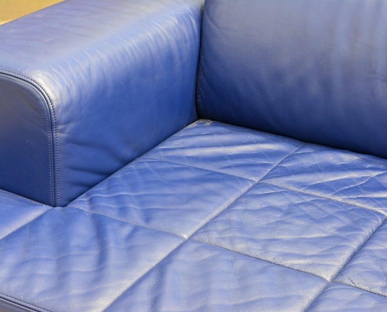 Italian Leather Sofa or Chaise by Studio Cerri & Associati for Poltrona Frau For Sale 1