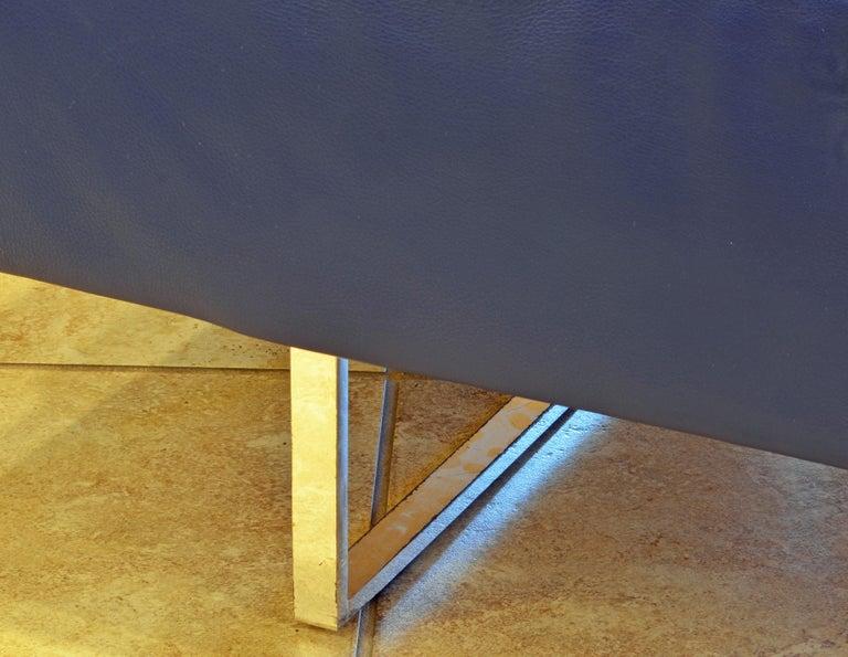 Italian Leather Sofa or Chaise by Studio Cerri & Associati for Poltrona Frau For Sale 2