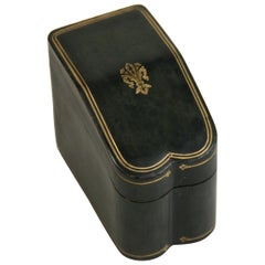 Italian Leather Two Deck Card Box