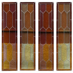 Italian, Liberty, Single Colored Stained Glass, Early 1900s