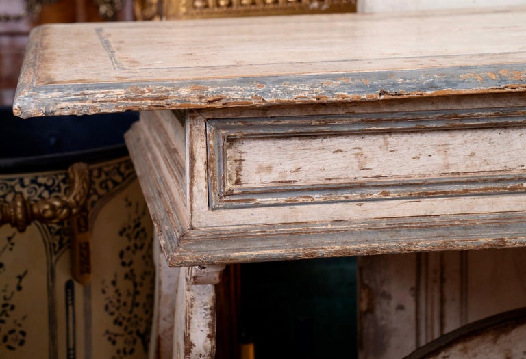 Painted Italian Library Table Desk For Sale