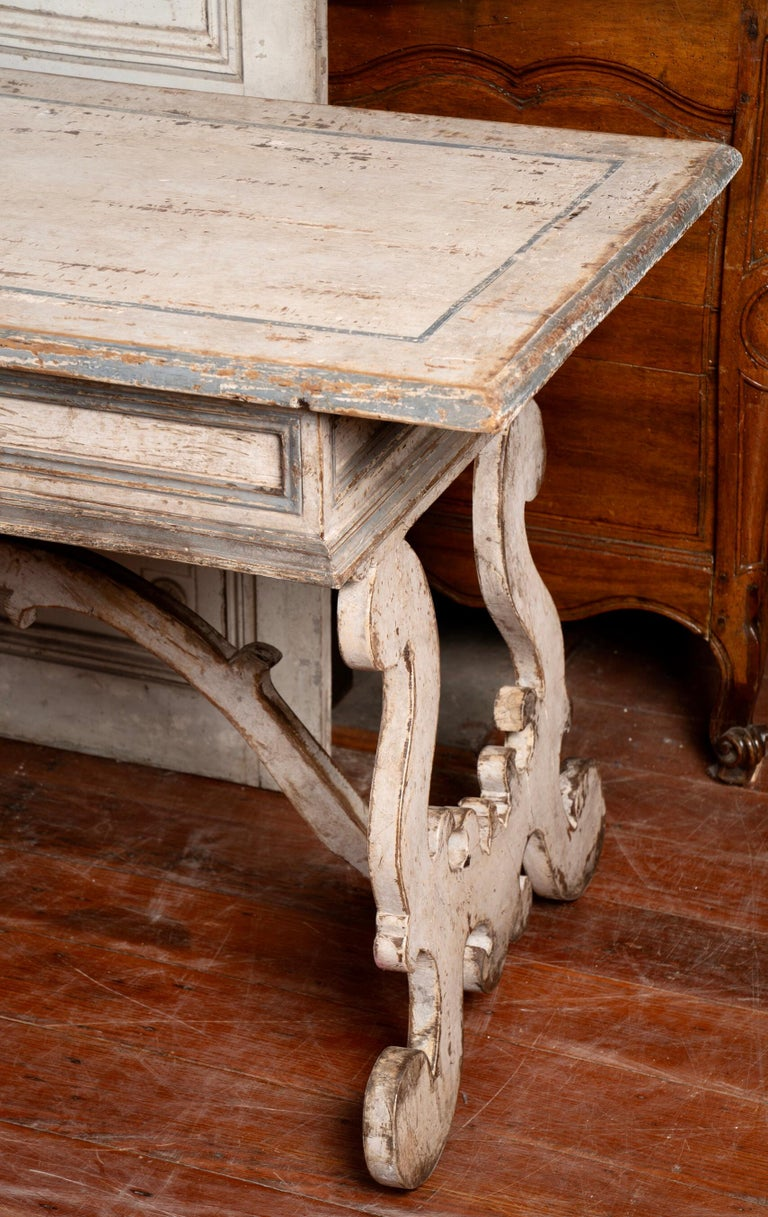 19th Century Italian Library Table Desk For Sale