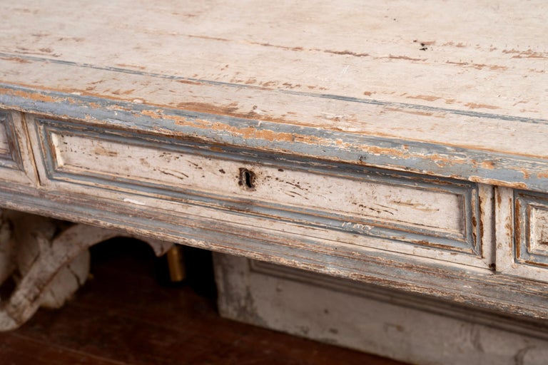 Wood Italian Library Table Desk For Sale