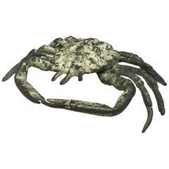 Italian Life-Size Bronze Crab