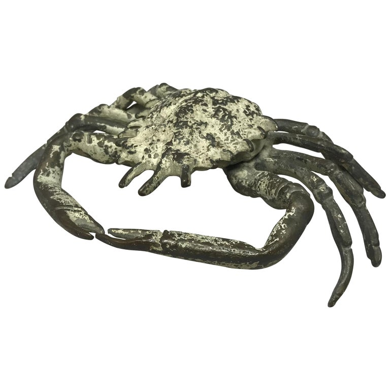 Italian Life-Size Bronze Crab For Sale