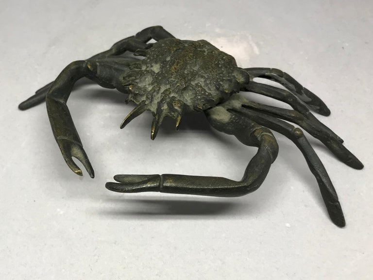 Italian Life-Size Bronze Crab In Good Condition For Sale In New York, NY