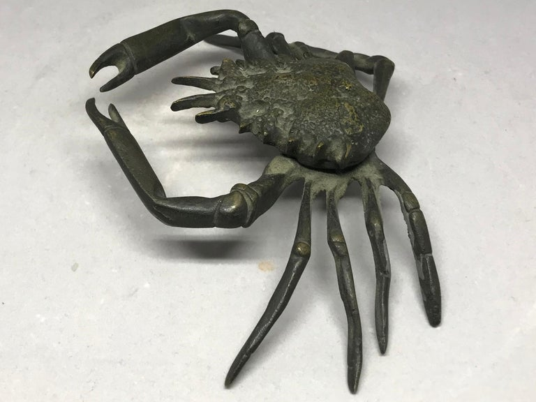 20th Century Italian Life-Size Bronze Crab For Sale
