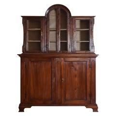 Italian, Ligurian, Walnut Late Baroque 2-Piece Cabinet, Mid 17th Cen. and Later
