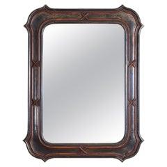 Italian, Lombardia, Baroque Revival Carved Wood & Silver Gilt Mirror, 3rdq 19thc