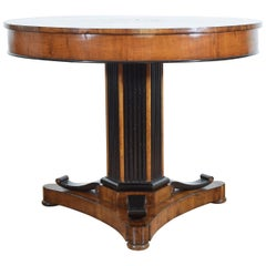 Italian, Lombardia, Root Walnut, Olivewood, Ashwood, & Ebonized Table