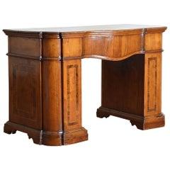 Italian, Lombardia, Walnut & Burl Writing Desk, Leather Slide Early 18th Century