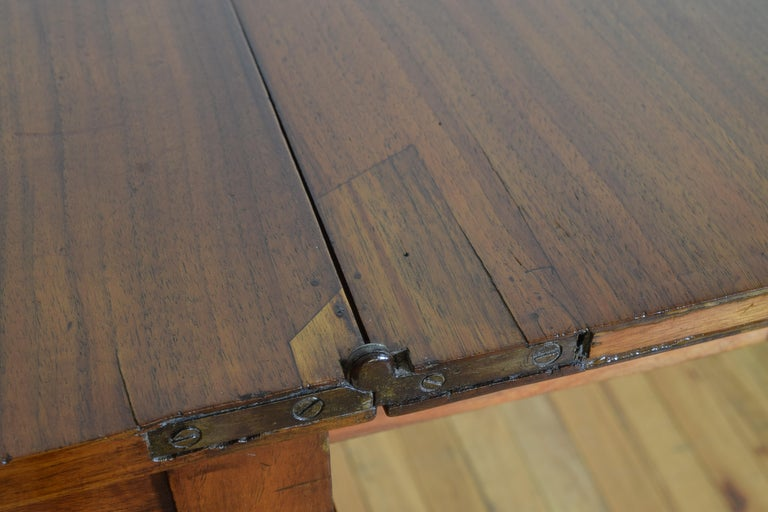 Italian, Lombardy, Directoire Cherrywood Folding Games Table, circa 1810 For Sale 7