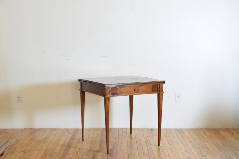 Italian, Lombardy, Directoire Cherrywood Folding Games Table, circa 1810 For Sale 1